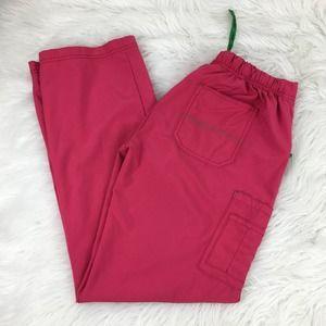 Carhartt M Tall Pink C52110T Cross Flex Scrub Pant